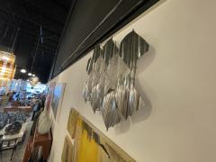 Italian Modern Handblown Glass and Polished Stainless Steel Wall Light Mazzega - 2098199