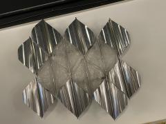 Italian Modern Handblown Glass and Polished Stainless Steel Wall Light Mazzega - 2098202