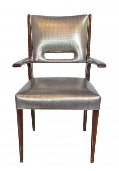 Italian Modern Mahogany Arm Desk Chair Guglielmo Ulrich - 731880