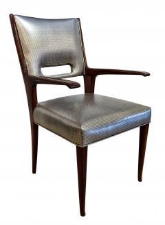 Italian Modern Mahogany Arm Desk Chair Guglielmo Ulrich - 732541
