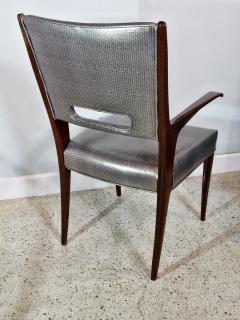 Italian Modern Mahogany Arm Desk Chair Guglielmo Ulrich - 732566