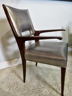 Italian Modern Mahogany Arm Desk Chair Guglielmo Ulrich - 732567