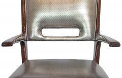 Italian Modern Mahogany Arm Desk Chair Guglielmo Ulrich - 732569
