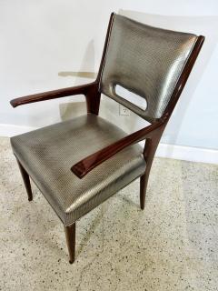 Italian Modern Mahogany Arm Desk Chair Guglielmo Ulrich - 732570