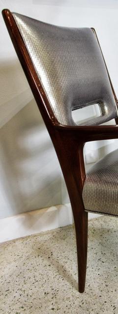 Italian Modern Mahogany Arm Desk Chair Guglielmo Ulrich - 732571