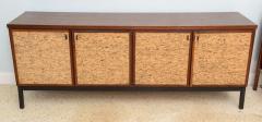 Italian Modern Mahogany and Cork Four Door Credenza or Buffet - 348682
