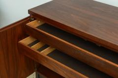 Italian Modern Mahogany and Cork Four Door Credenza or Buffet - 348683
