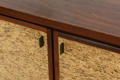 Italian Modern Mahogany and Cork Four Door Credenza or Buffet - 348686