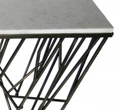 Italian Modern Marble Top Steel Console Memphis Movement - 665322