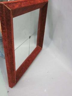 Italian Modern Neoclassical Venetian Wall Mirror with Antique Red Velvet Frame - 1787592