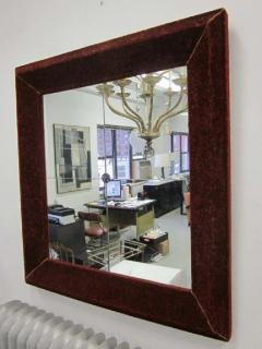 Italian Modern Neoclassical Venetian Wall Mirror with Antique Red Velvet Frame - 1787596