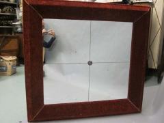 Italian Modern Neoclassical Venetian Wall Mirror with Antique Red Velvet Frame - 1787597