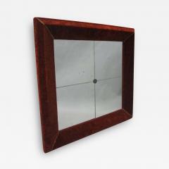 Italian Modern Neoclassical Venetian Wall Mirror with Antique Red Velvet Frame - 1791364