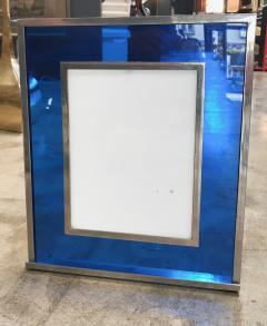 Italian Modern Picture Frame in Blu Plexiglass 1970s - 1043629