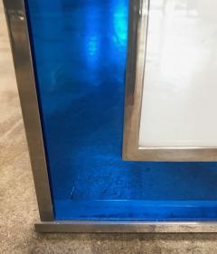 Italian Modern Picture Frame in Blu Plexiglass 1970s - 1043631