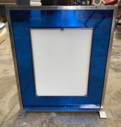 Italian Modern Picture Frame in Blu Plexiglass 1970s - 1043634