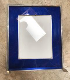Italian Modern Picture Frame in Blu Plexiglass 1970s - 1043639