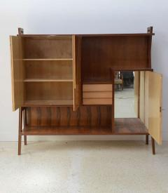 Italian Modern Walnut Birch and Mahogany Cabinet or Bookcase Arturo Reverso - 373153