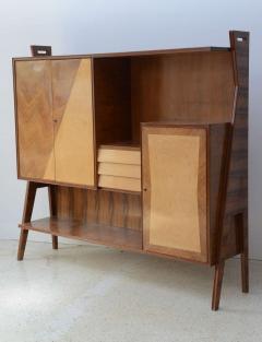 Italian Modern Walnut Birch and Mahogany Cabinet or Bookcase Arturo Reverso - 373156
