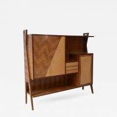 Italian Modern Walnut Birch and Mahogany Cabinet or Bookcase Arturo Reverso - 376788
