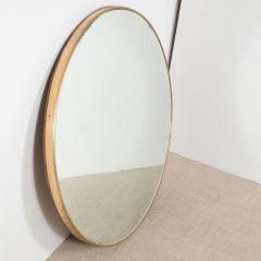 Italian Modernist Brass Framed Mirror - 1467341