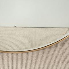 Italian Modernist Brass Framed Mirror - 1467344
