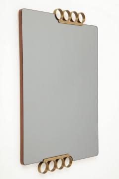 Italian Modernist Brass Mirror - 837587