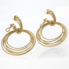 Italian Modernist Gold Earrings - 303918