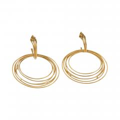 Italian Modernist Gold Earrings - 304014