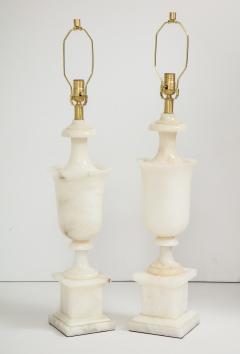Italian NeoClassical Alabaster Lamps - 1240881