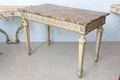 Italian Neoclassic Painted Parcel Gilt Console Centre Table Late 18th Century - 350148