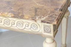 Italian Neoclassic Painted Parcel Gilt Console Centre Table Late 18th Century - 350149