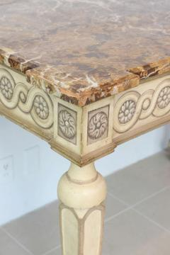 Italian Neoclassic Painted Parcel Gilt Console Centre Table Late 18th Century - 350150