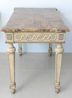 Italian Neoclassic Painted Parcel Gilt Console Centre Table Late 18th Century - 350152