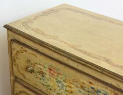 Italian Neoclassic Painted and Parcel Gilt Two Drawer Commode Piedmontese - 40588