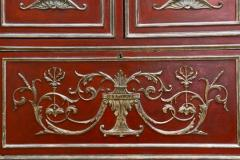 Italian Neoclassic Style Scarlet Painted and Silver Gilt Cabinet - 422637