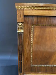 Italian Neoclassic Walnut Bronze and Parcel Gilt 2 Door Credenza circa 1800 - 1356951