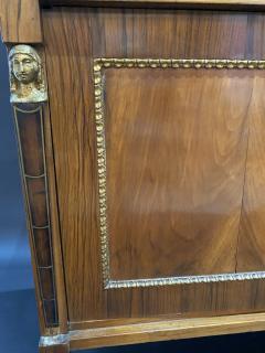 Italian Neoclassic Walnut Bronze and Parcel Gilt 2 Door Credenza circa 1800 - 1356952