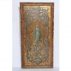 Italian Neoclassical Paint and Parcel Gilt Panels Roman Goddesses Muses - 1935864