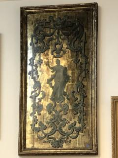 Italian Neoclassical Paint and Parcel Gilt Panels Roman Goddesses Muses - 1935907