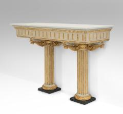 Italian Neoclassical Painted and Parcel Gilt Console Table - 717733