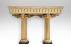 Italian Neoclassical Painted and Parcel Gilt Console Table - 717736