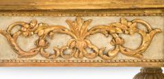 Italian Neoclassical Painted and Parcel Gilt Console Table - 1061905