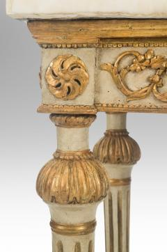 Italian Neoclassical Painted and Parcel Gilt Console Table - 1061908