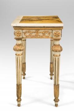 Italian Neoclassical Painted and Parcel Gilt Console Table - 1061909