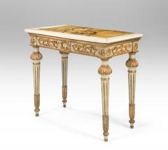 Italian Neoclassical Painted and Parcel Gilt Console Table - 1061911