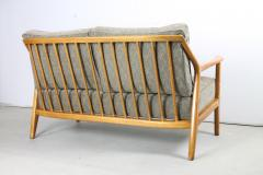 Italian Oak Spindle Back Settee - 317112