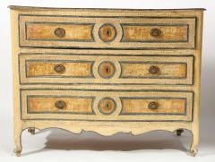Italian Painted 3 Drawer Commode - 1581142