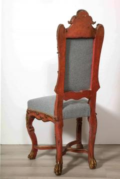 Italian Painted and Gilt Rococo Chair - 2013794