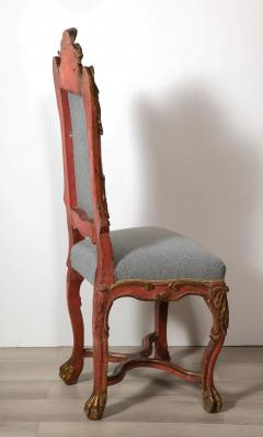 Italian Painted and Gilt Rococo Chair - 2013796